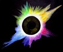 Augen, Sonnenfinsternis, Abstrakt, Malerei