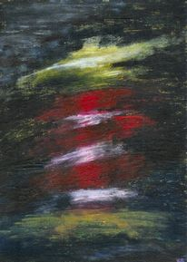 Leuchtturm, Abstrakt, Acrylmalerei, Sturm