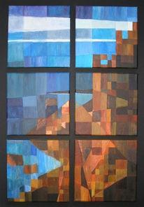 Himmel, Mosaiktechnik, Felsen, Mosaik