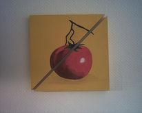 Malerei, Tomate, Gelb