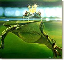 Malerei, Frosch, Tiere,