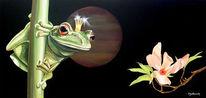 Frosch, Stillleben, Malerei, Tiere