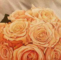 Rose, Stillleben, Blumen, Malerei
