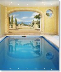L'oeil, Schwimmbad, Privaten, Wandmalerei