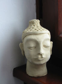 Skulptur, Buddha, Figural, Ton