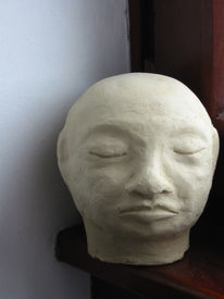 Skulptur, Figural, Ton, Ungebrannt
