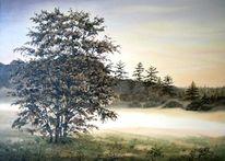 Malerei, Landschaft, Morgenstimmung