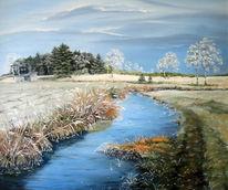 Landschaft, Malerei, Winterlandschaft