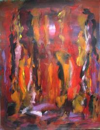 Malerei, Abstrakt, Frust