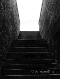 Fotografie, Stufe, Schwarzweiß, Treppe