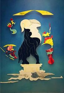 Malerei, Triumph, Bock, Surreal