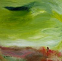 Wind, Menschen, Leere, Malerei