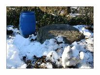 Schnee, Fass, Winter, Blau