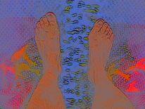 Füsse, Toskana, Digital, Pastellmalerei