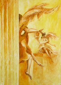 Engel, Figurativ, Malerei, Acrylmalerei