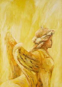 Malerei, Engel, Sphinx, Figurativ