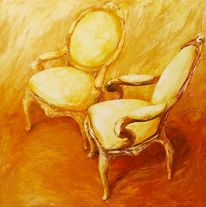 Malerei, Stuhl, Möbel, Stillleben