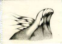 Bleistiftzeichnung, Zeichnung, Wind, Abstrakt
