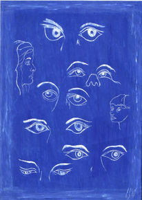 Seele blau augen, Gemeinschaftsprojekte, Kreaktiv, Monatsaufgabe