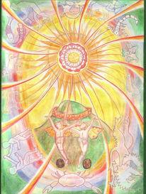 Tarot, Sternzeichen, Erde, Zeichnung