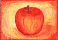 Malerei, Apfel, Pflanzen