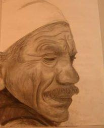 Menschen, Portrait, Alt, Zeichnung