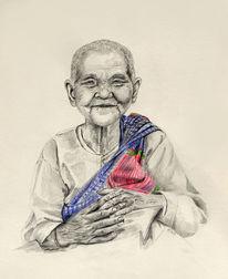 Ankgor, Spende, Kambodscha, Alt