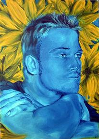 Figural, Gelb, Blau, Portrait