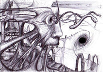 Surreal, Zeichnung, Tür, Wahrnehmung