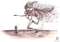 Zeichnung, Engel, Surreal, Zeichnungen