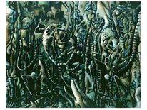 Treffen, Nordsee, Figur, Temperamalerei