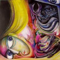 Surreal, Gedanken, Malerei, Nacht