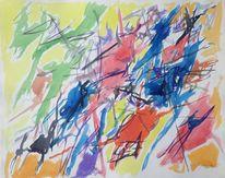 Farbenzauber, Malerei, 1959, Abstrakt
