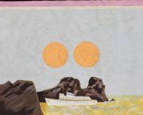 Schiff, Sonne, Malerei, Passage