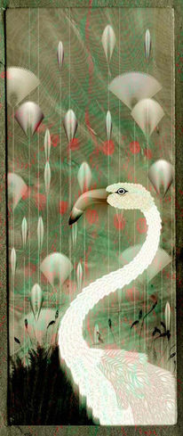 Vogel, Flamingo, Digital, Tiere