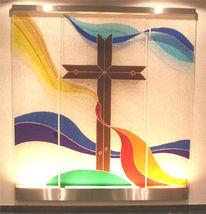 Kunsthandwerk, Glaskreuz, Emaille, Glaskreuze