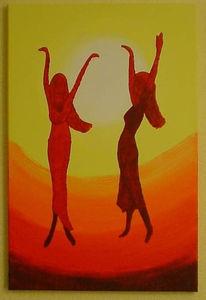 Malerei, Abstrakt, Tanz