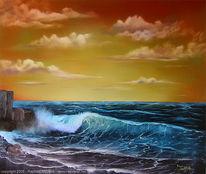 Meer, Welle, Landschaft, Malerei