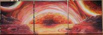 Malerei, Lava, Sonne, Meer