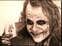 Portrait, Joker, Zeichnung, Zeichnungen