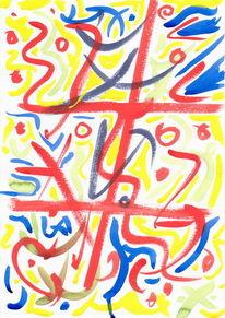Abstrakt, Schriftzeichen, Malerei, Chinesisch