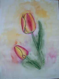 Malerei, Landschaft, Frühling