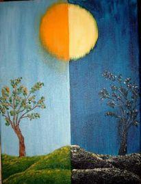 Malerei, Nacht, Tag