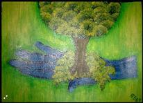 Malerei, Hand, Natur