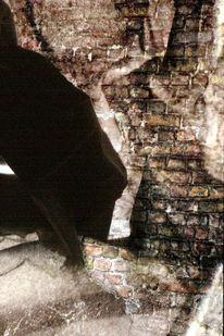 Abstrakt, Digital, Backstein, Hauswand