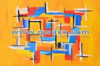 Abstrakt, Farbenfeude, Malerei