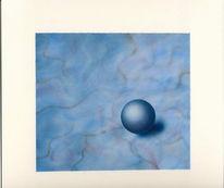 Mramor, Airbrush, Blau, Grafik