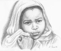 Farben, Portrait, Kinder, Zeichnung
