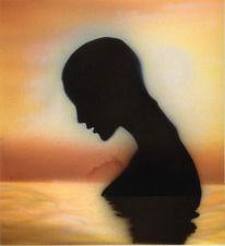 Figural, Airbrush, Figur, Wasser