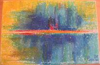 Landschaft, Pastellmalerei, Surreal, Malerei